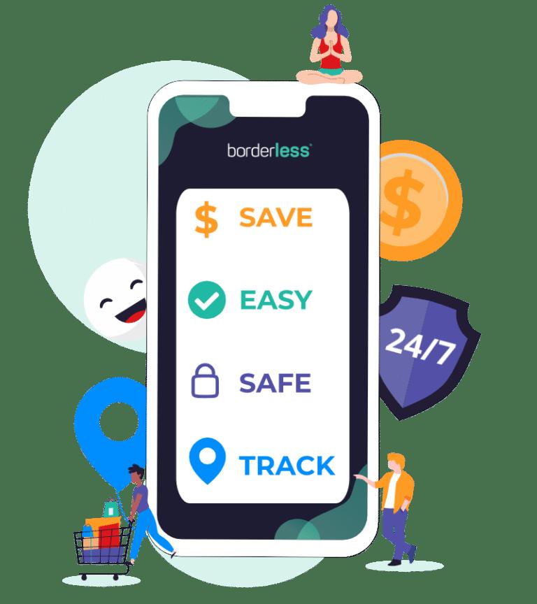 borderless is Safe. Easy. Save big. Track.